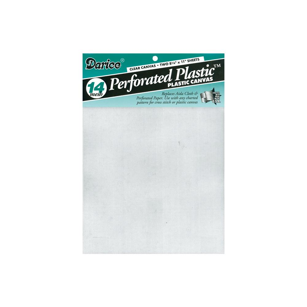 "Perforated Plastic Canvas 14 Count 8.5""X11"" Sheet Clear"