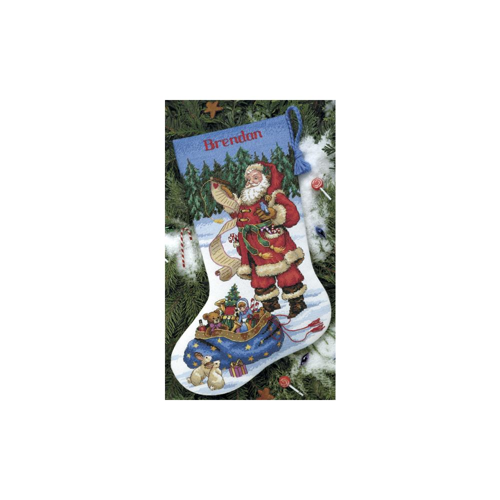 Stocking Checking His List Counted Cross Stitch Kit