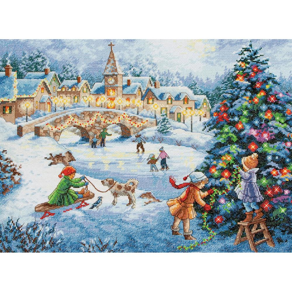 Gold Collection Winter Celebration Counted Cross Stitch Kit