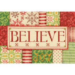 Mini Believe Counted Cross Stitch Kit