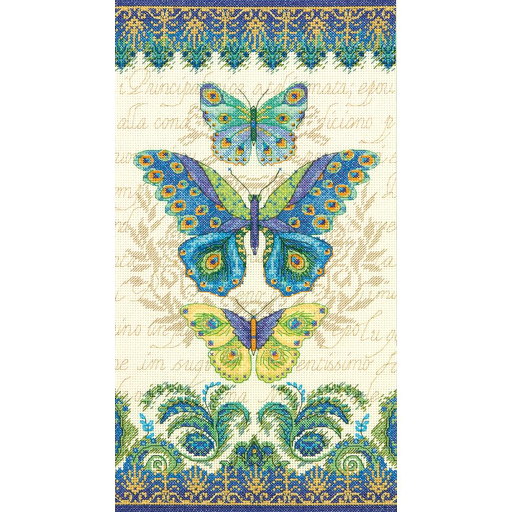 Peacock Butterflies Counted Cross Stitch Kit