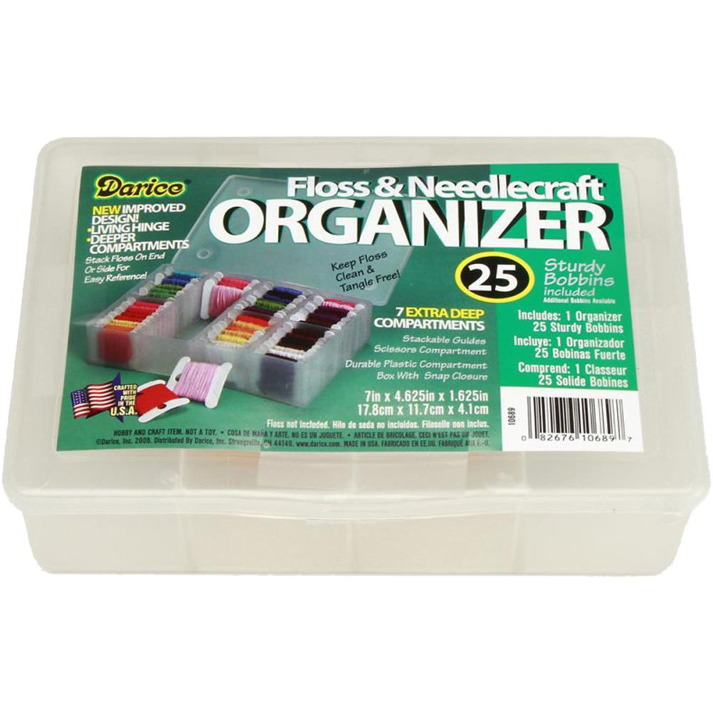 Darice Deep Floss Caddy 7 Compartments W/25 Bobbins