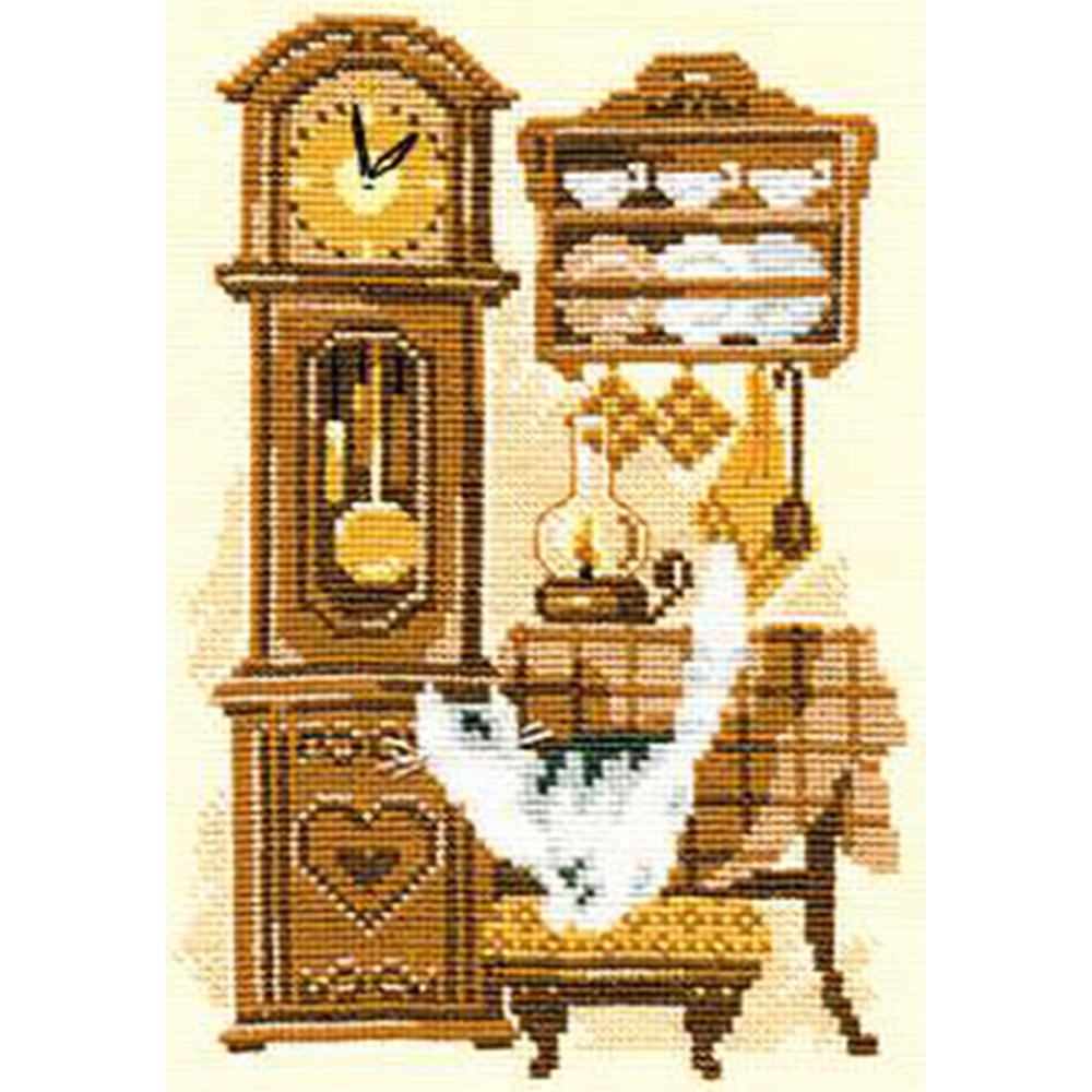 Cat With Clock (15 Count)