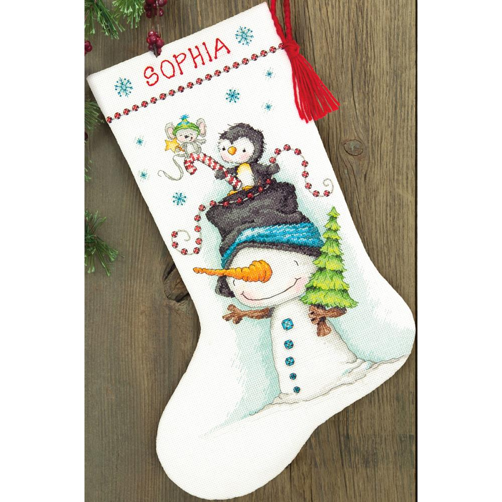 Stocking Jolly Trio Counted Cross Stitch Kit