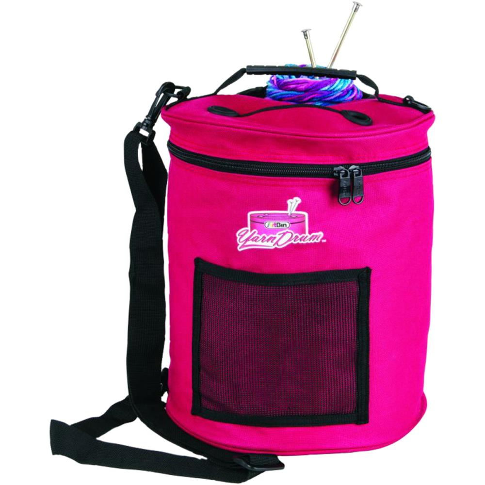 "ArtBin Yarn Drum 12""X12.75"" - Raspberry"