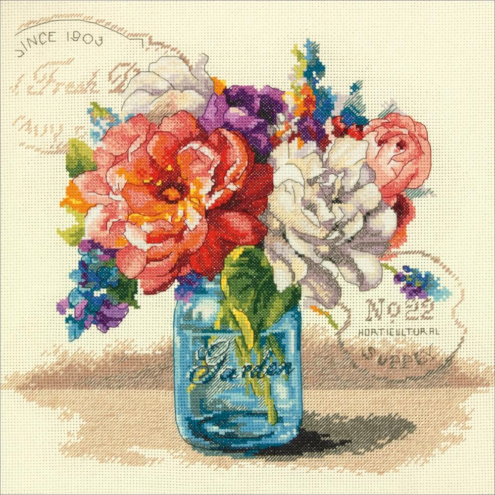 Garden Bouquet Counted Cross Stitch Kit