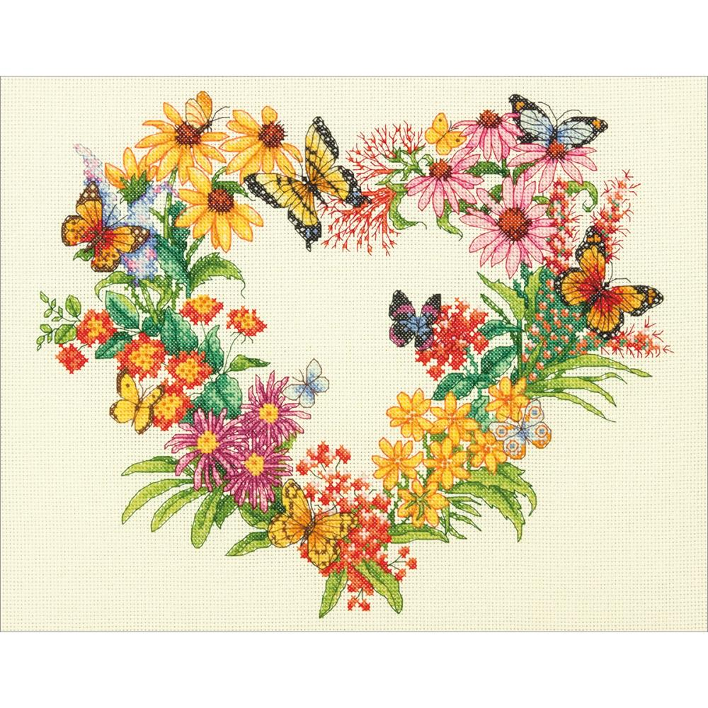 Wildflower Wreath Counted Cross Stitch Kit