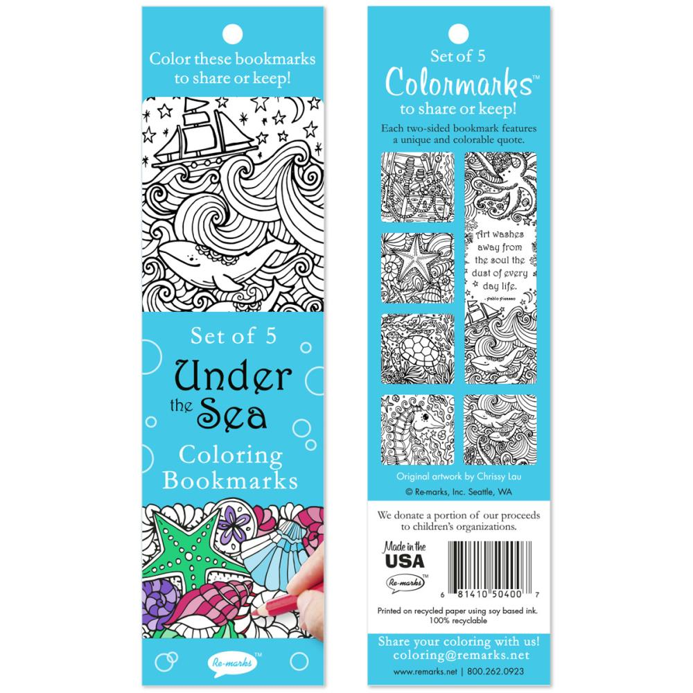 Under The Sea Coloring Bookmarks