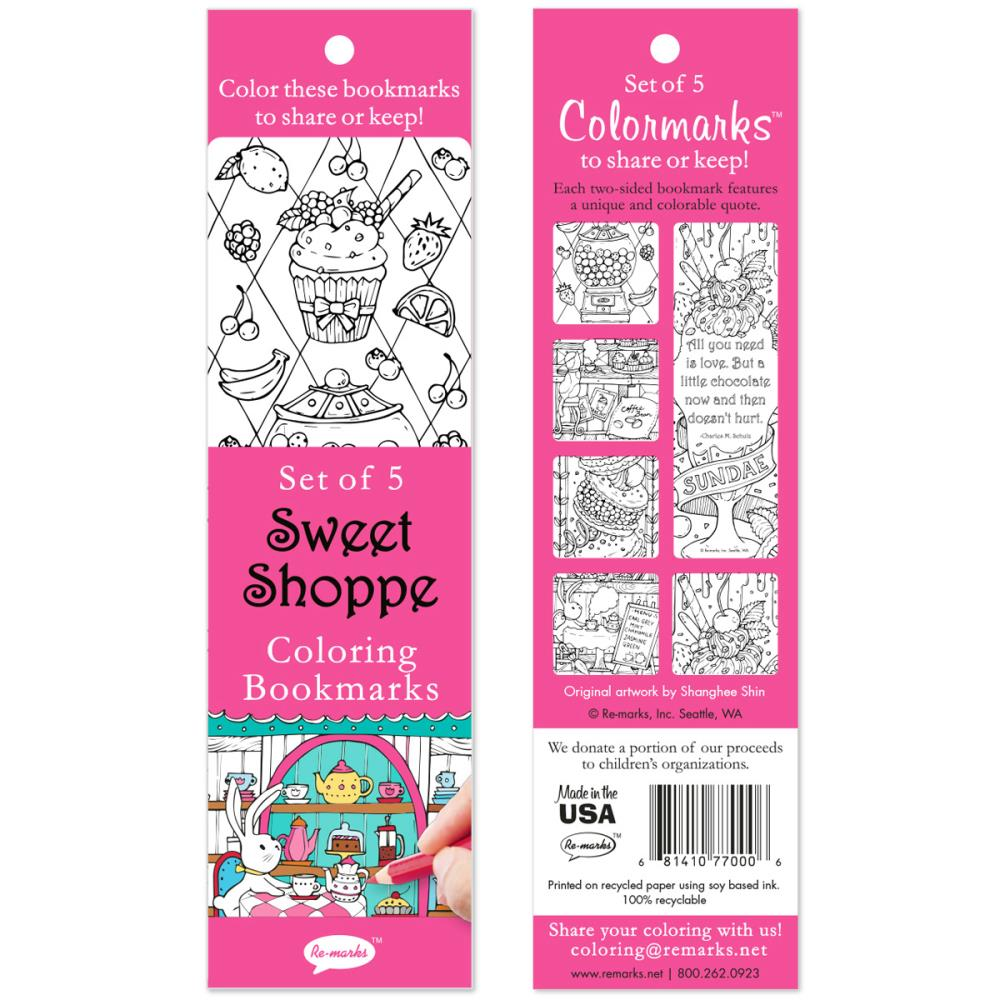Sweet Shoppe Coloring Bookmarks
