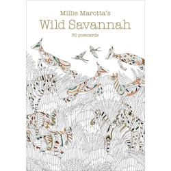 Wild Savannah 30 Coloring Postcards