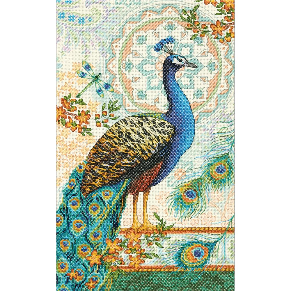 Gold Collection Royal Peacock Counted Cross Stitch Kit