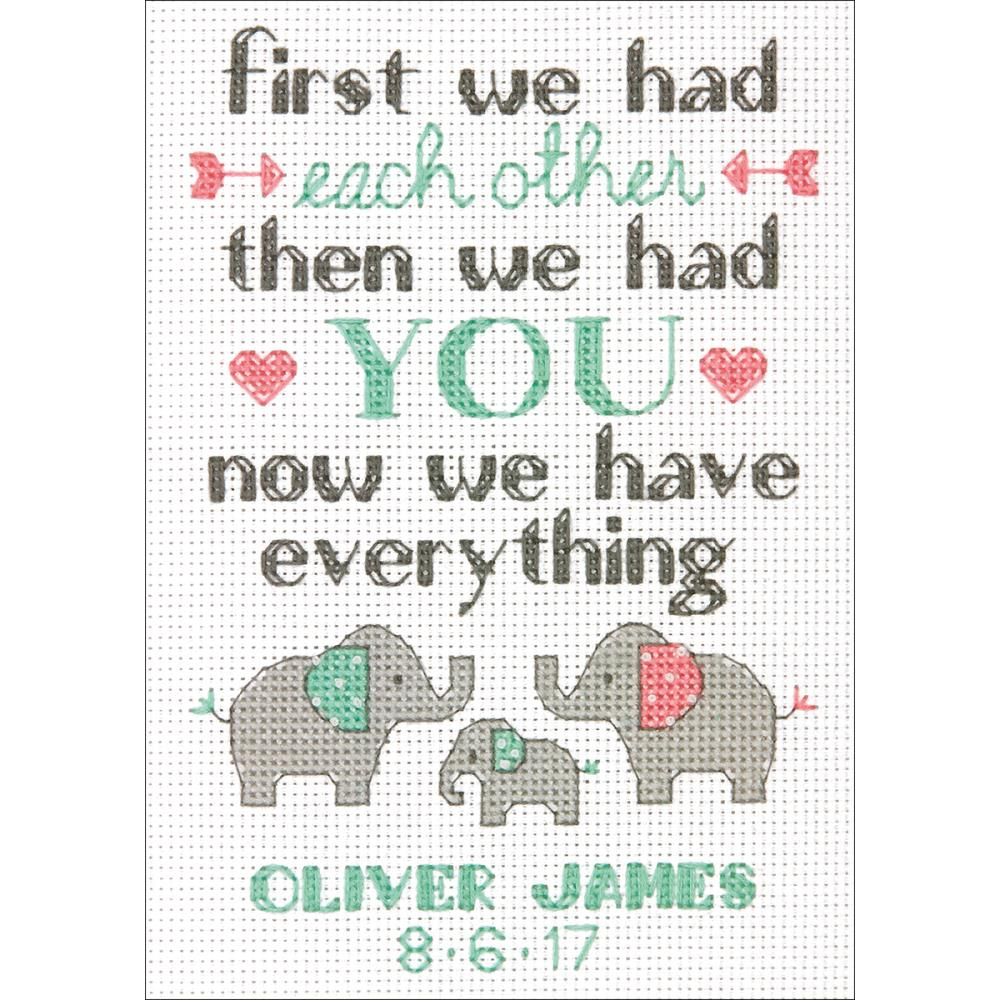 Mini Family Birth Record Counted Cross Stitch Kit