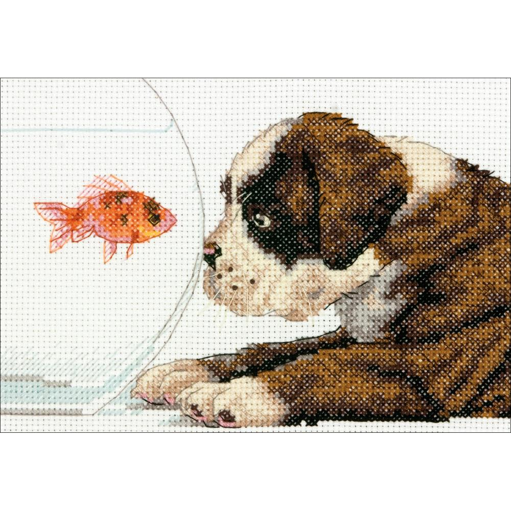 Mini Dog Bowl Counted Cross Stitch Kit