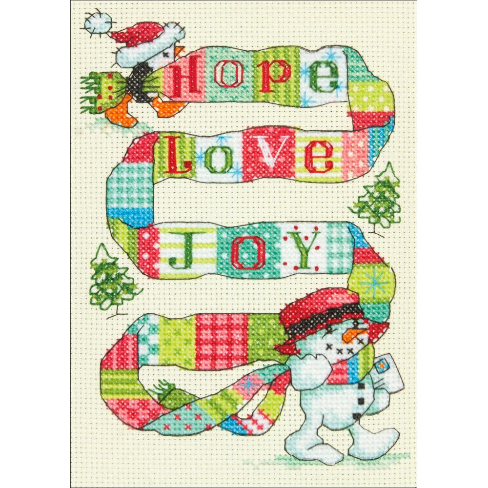 Mini Spread The Joy Counted Cross Stitch Kit