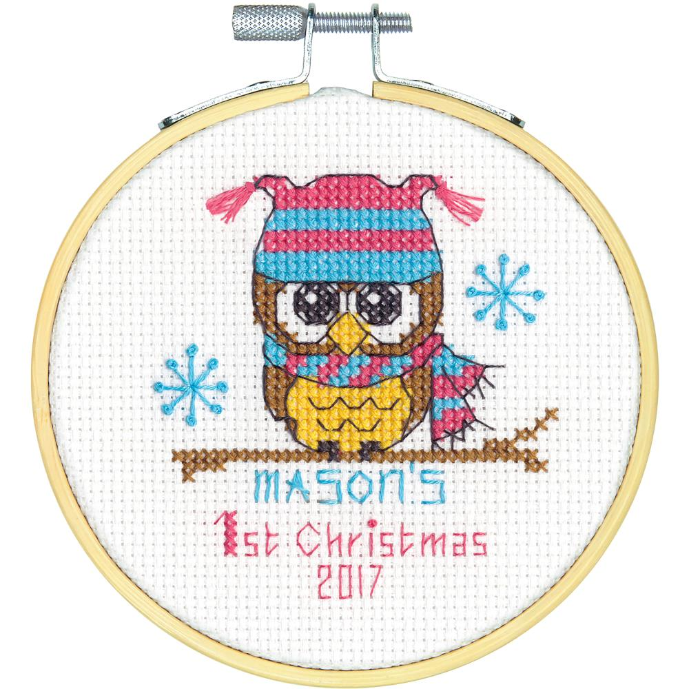 Baby's First Christmas Counted Cross Stitch Kit - Click Image to Close