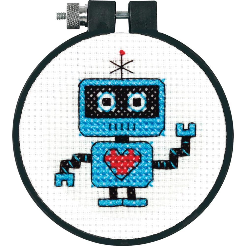 Learn A Craft Robot Counted Cross Stitch Kit