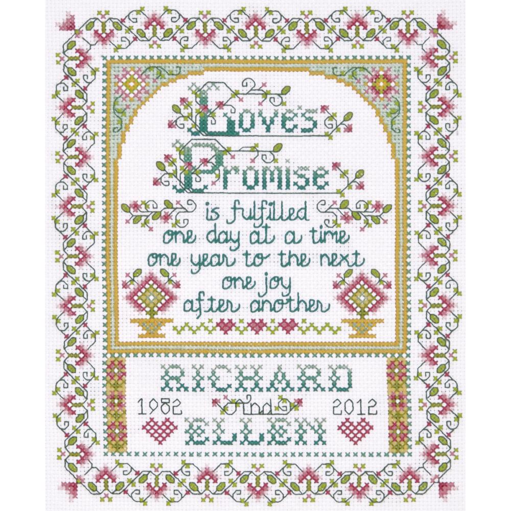 Love's Promise Counted Cross Stitch Kit
