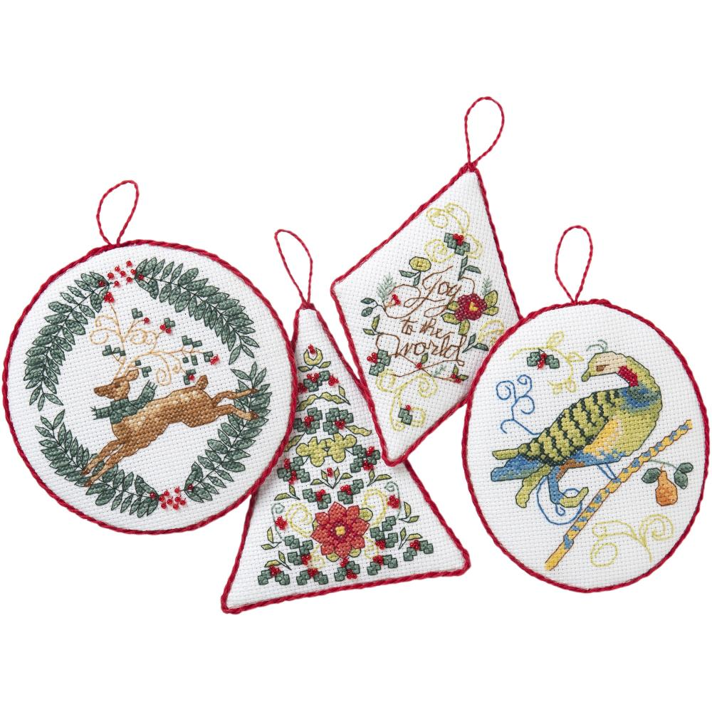 Hallmark Holiday Blooms Counted Cross Stitch Kit