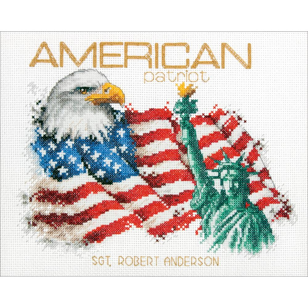 American Patriot Counted Cross Stitch Kit - Click Image to Close