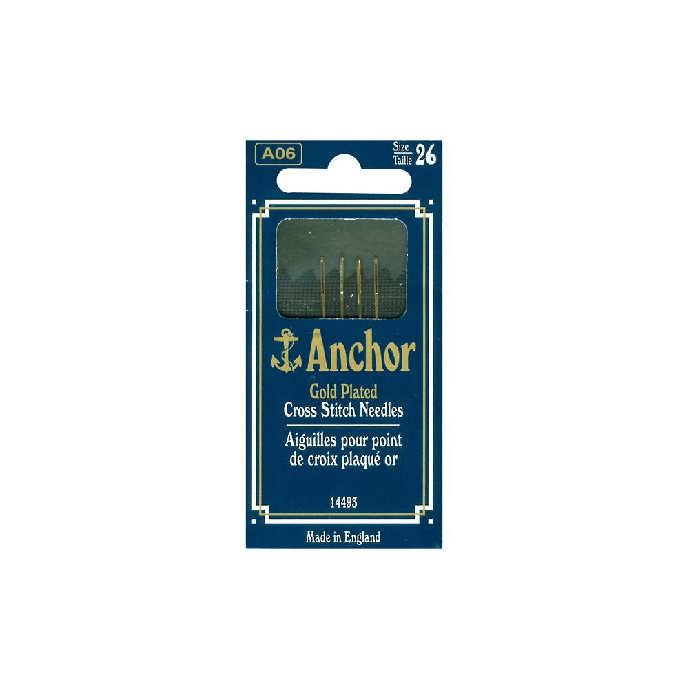 Anchor Gold-Plated Cross Stitch Needles Size 26