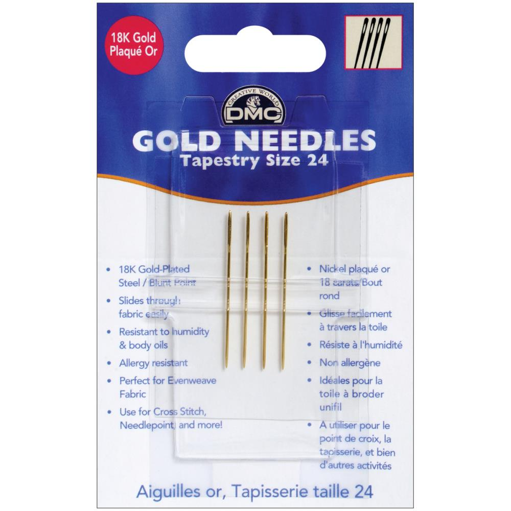 DMC Gold Tapestry Hand Needles Size 24