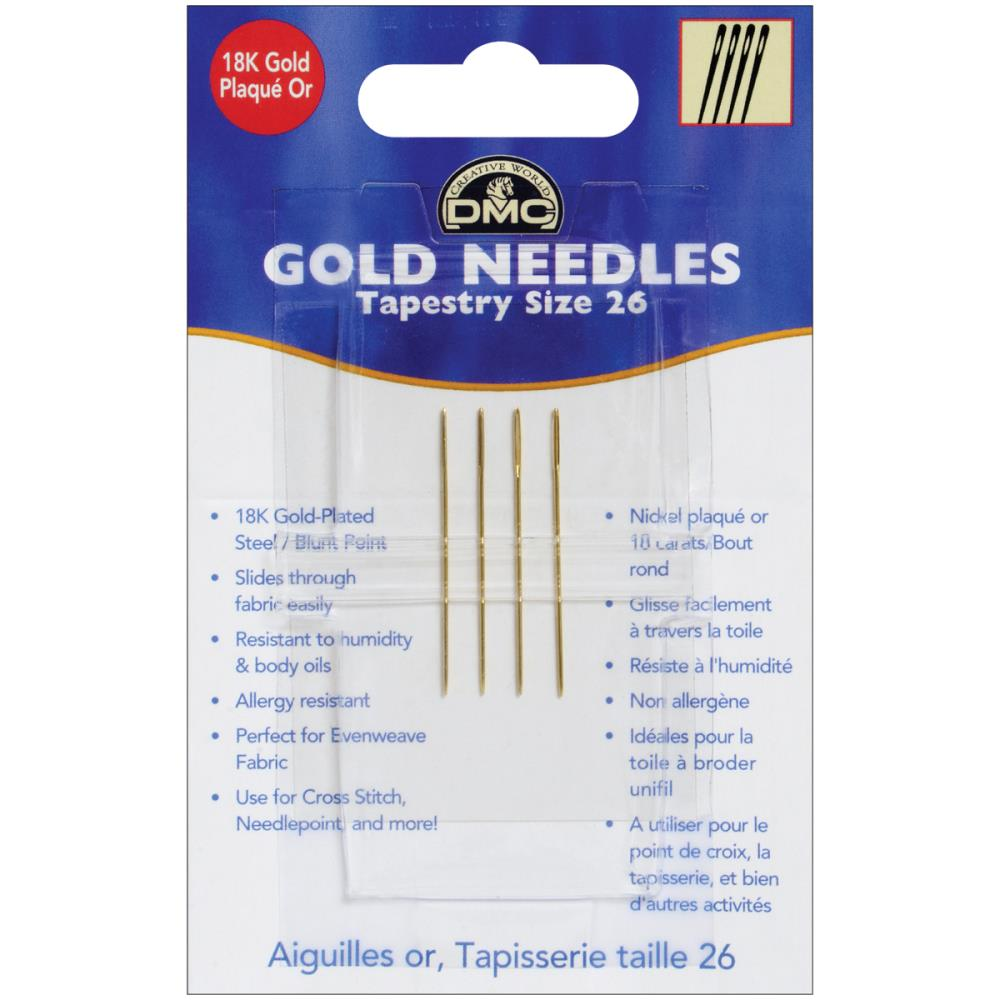 DMC Gold Tapestry Hand Needles Size 26