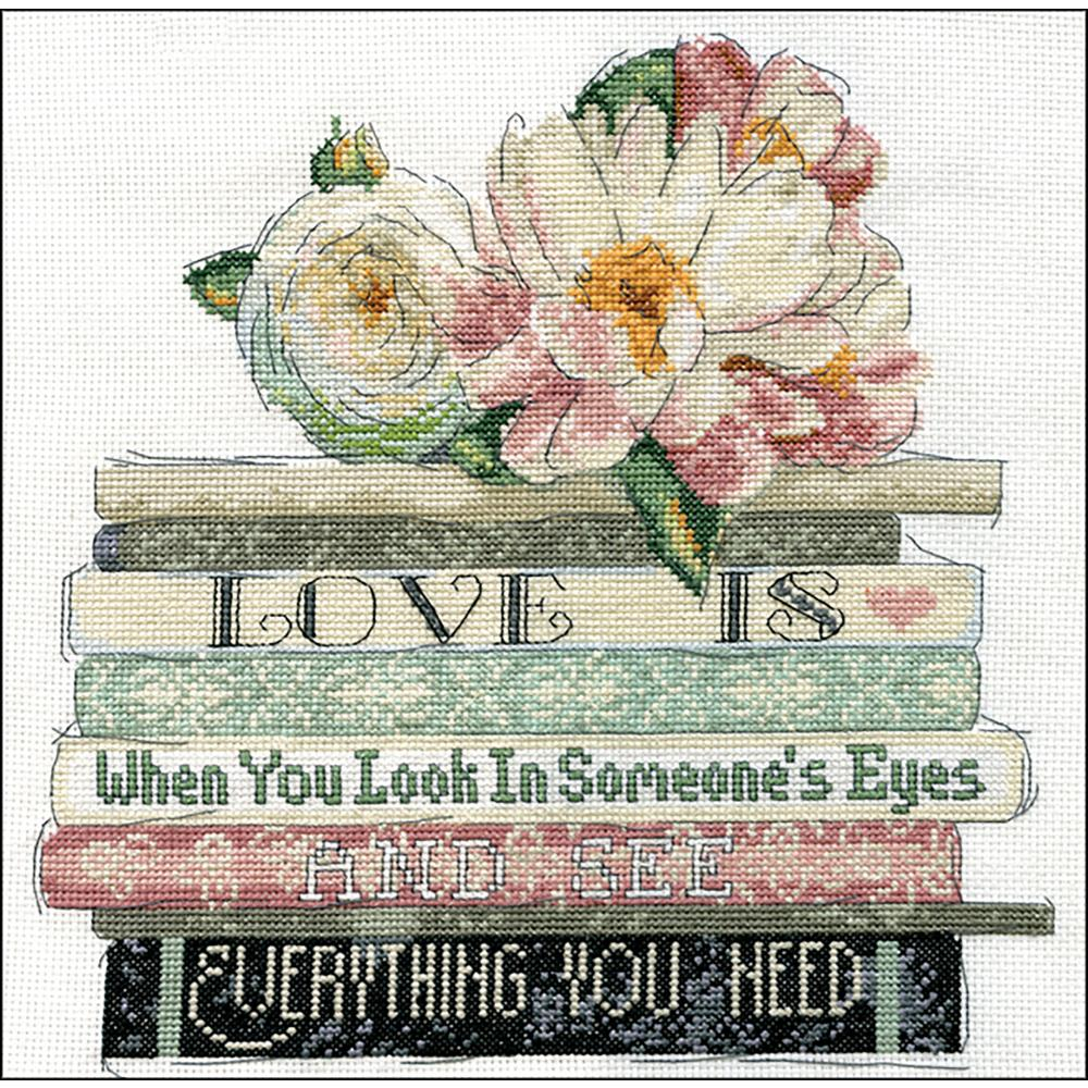 Love Is Counted Cross Stitch Kit