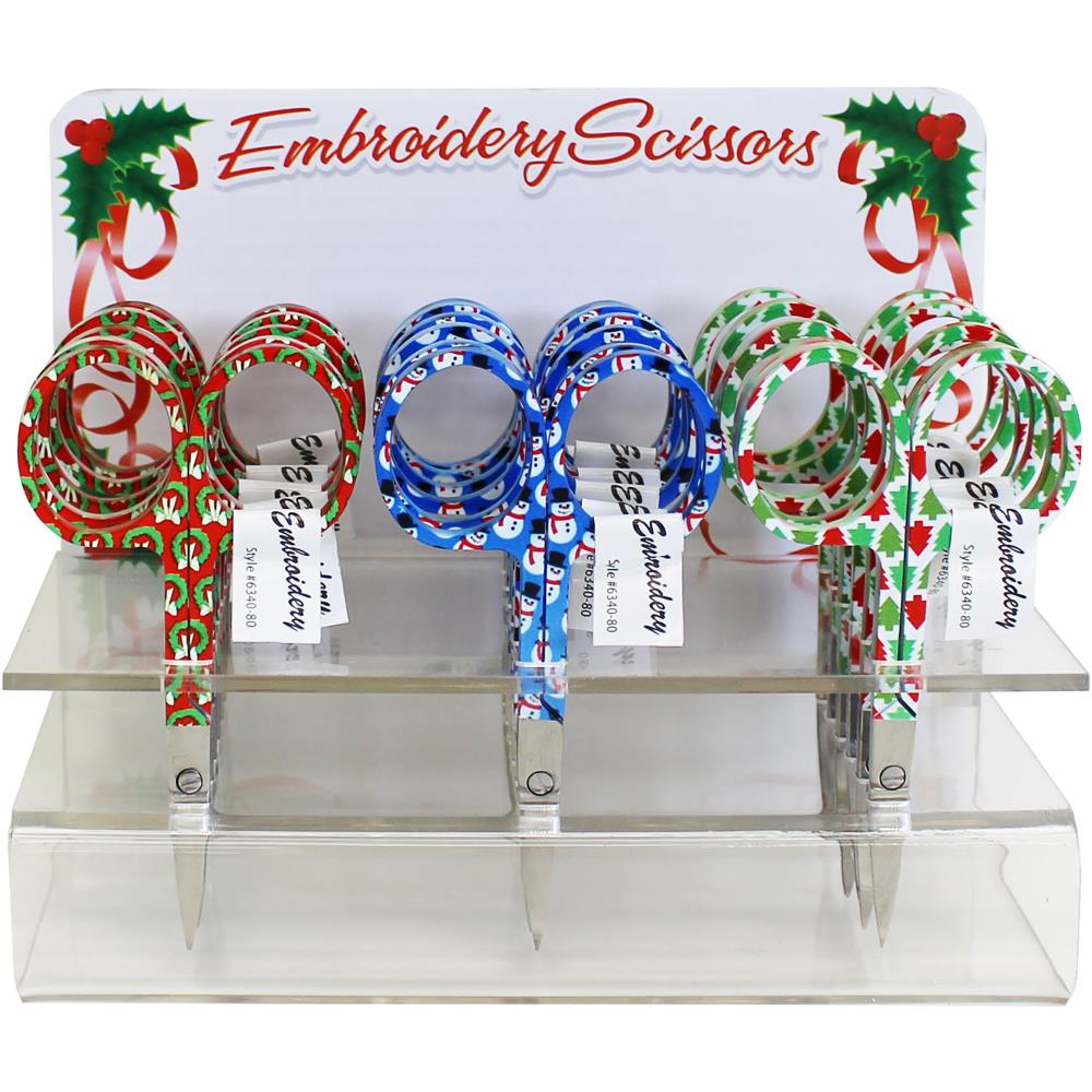 Holiday Embroidery Scissors - Wreaths