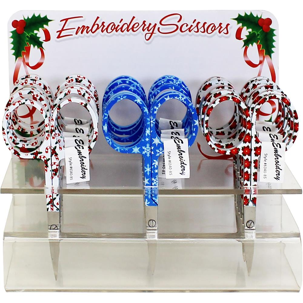 Holiday Embroidery Scissors - Candy Canes