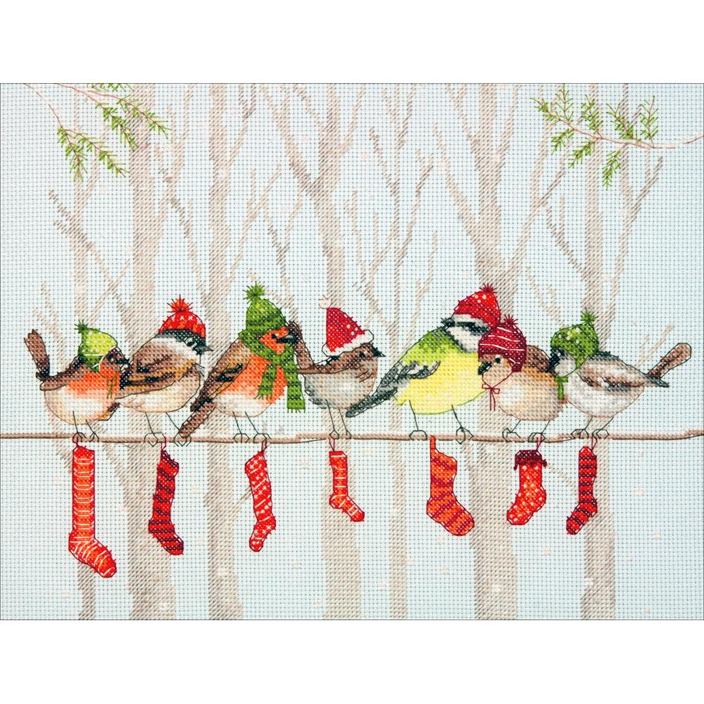 Winter Gathering Counted Cross Stitch Kit