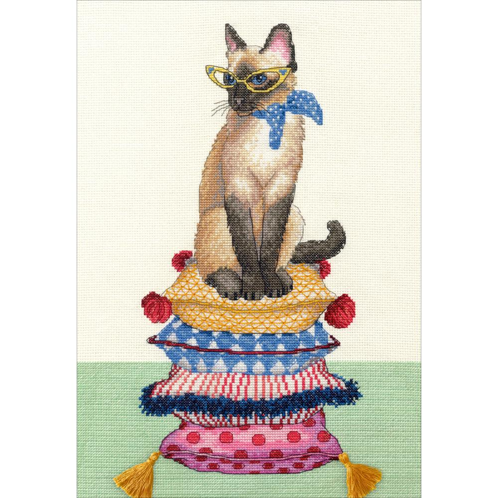 Cat Lady Counted Cross Stitch Kit - Click Image to Close