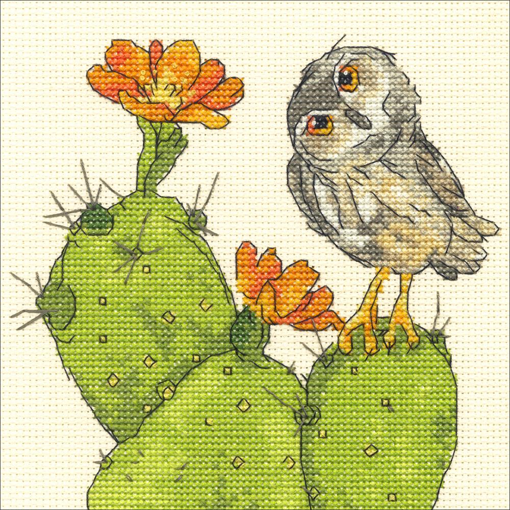 Prickly Owl Counted Cross Stitch Kit