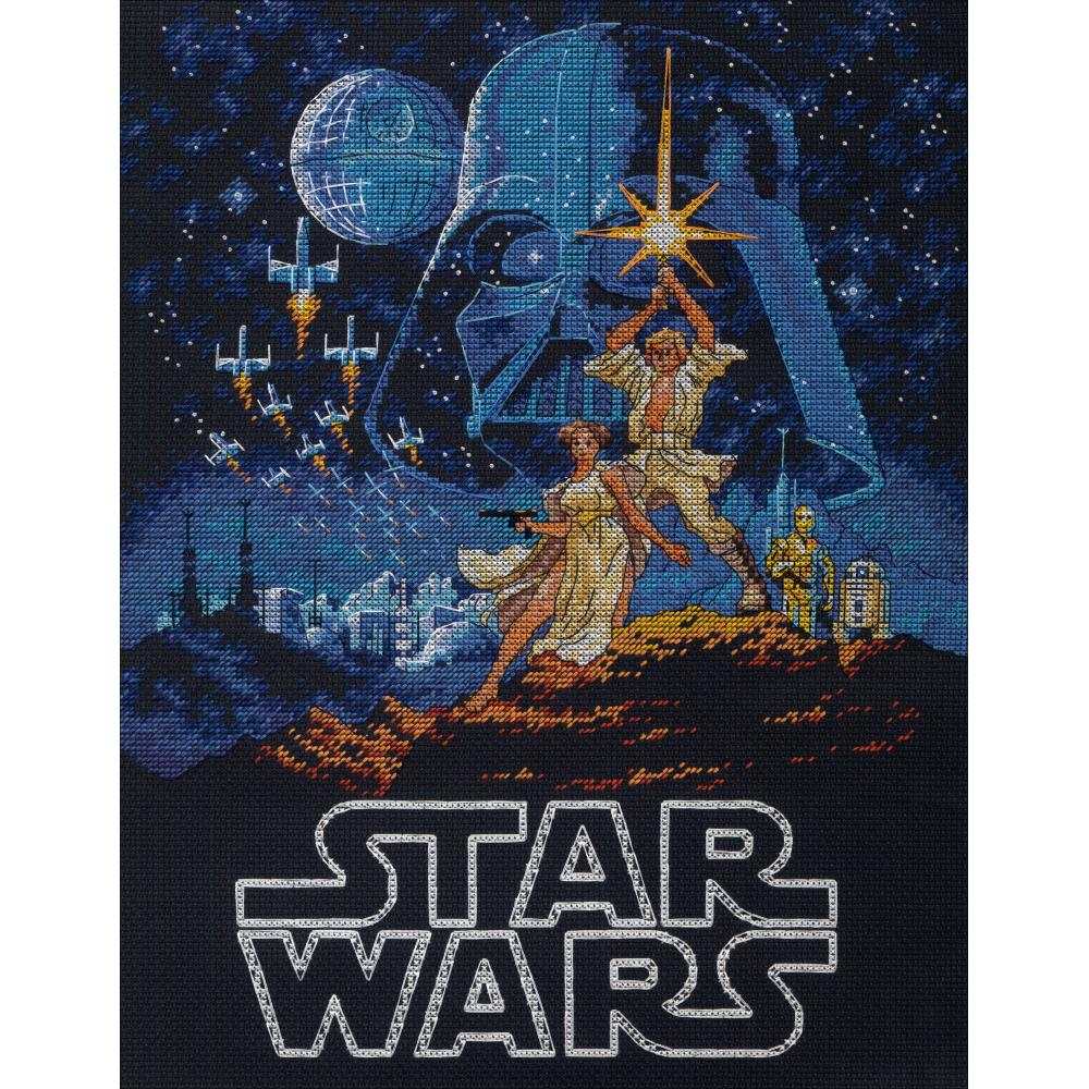 Luke & Princess Leia Counted Cross Stitch Kit