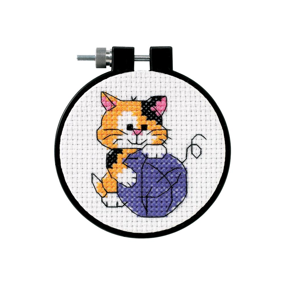 Learn A Craft Cute Kitty Counted Cross Stitch Kit