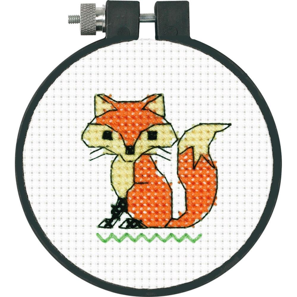 Learn A Craft Fox Counted Cross Stitch Kit