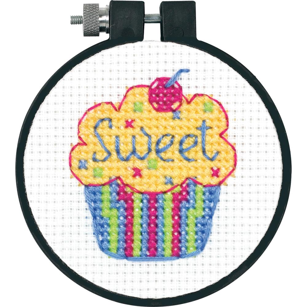 Learn A Craft Cupcake Counted Cross Stitch Kit