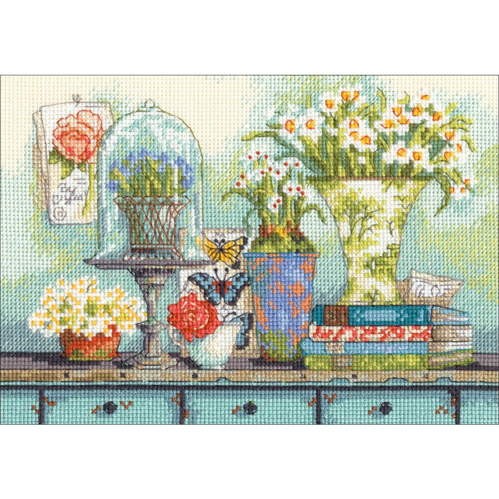 Gold Petites Garden Collectibles Counted Cross Stitch Kit - Click Image to Close