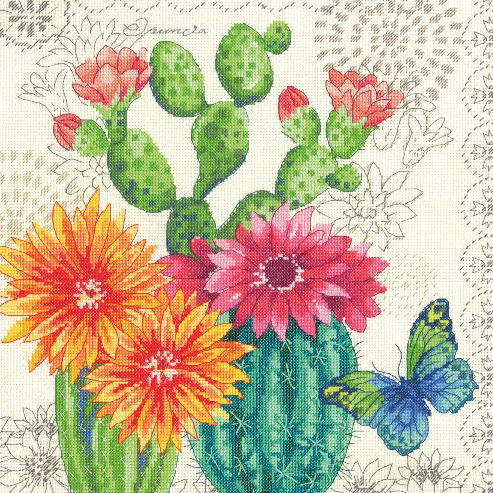 Cactus Bloom Counted Cross Stitch Kit