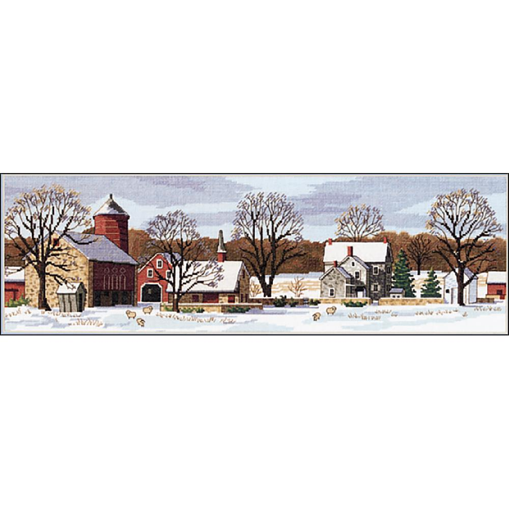 Scenic Farm Counted Cross Stitch Kit