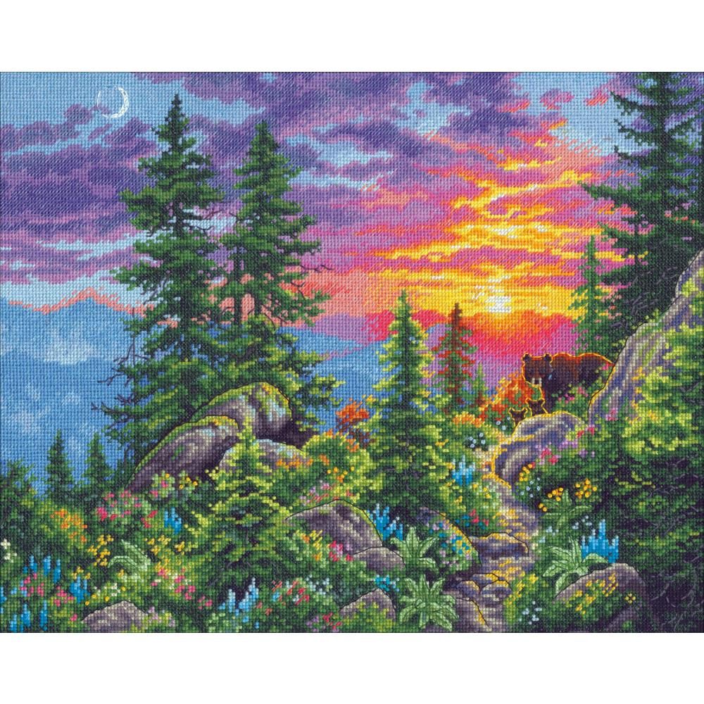 Gold Collection Sunset Mountain Trail Counted Cross Stitch Kit