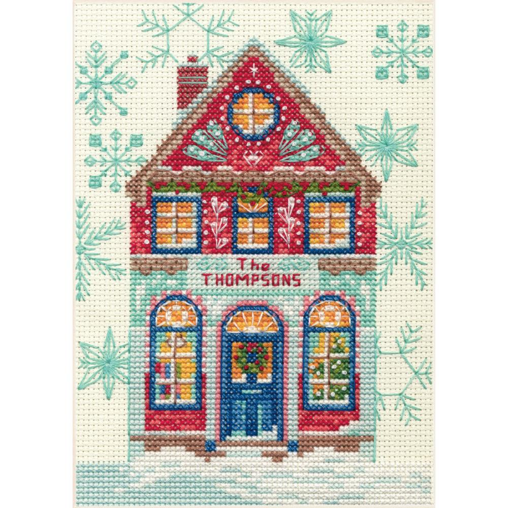 Mini Holiday Home Counted Cross Stitch Kit