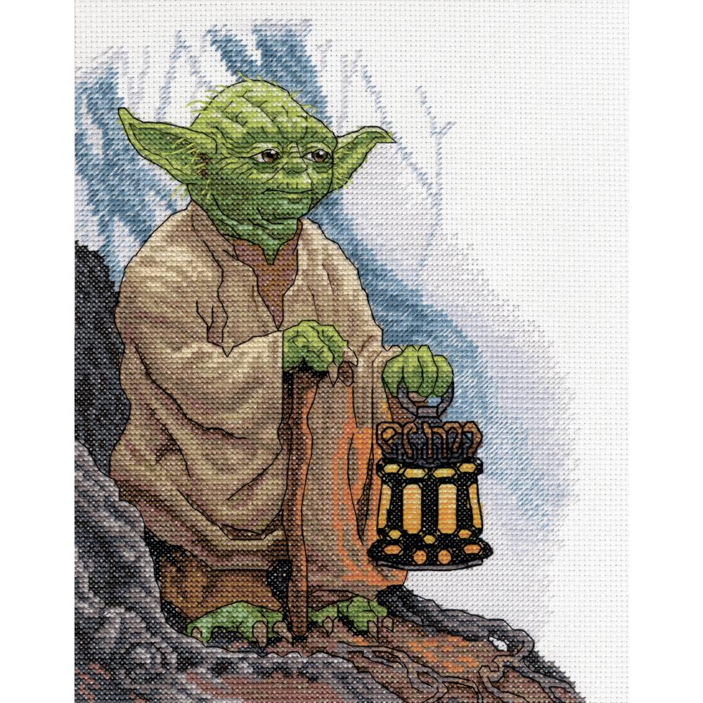 Star Wars Yoda Counted Cross Stitch Kit - Click Image to Close