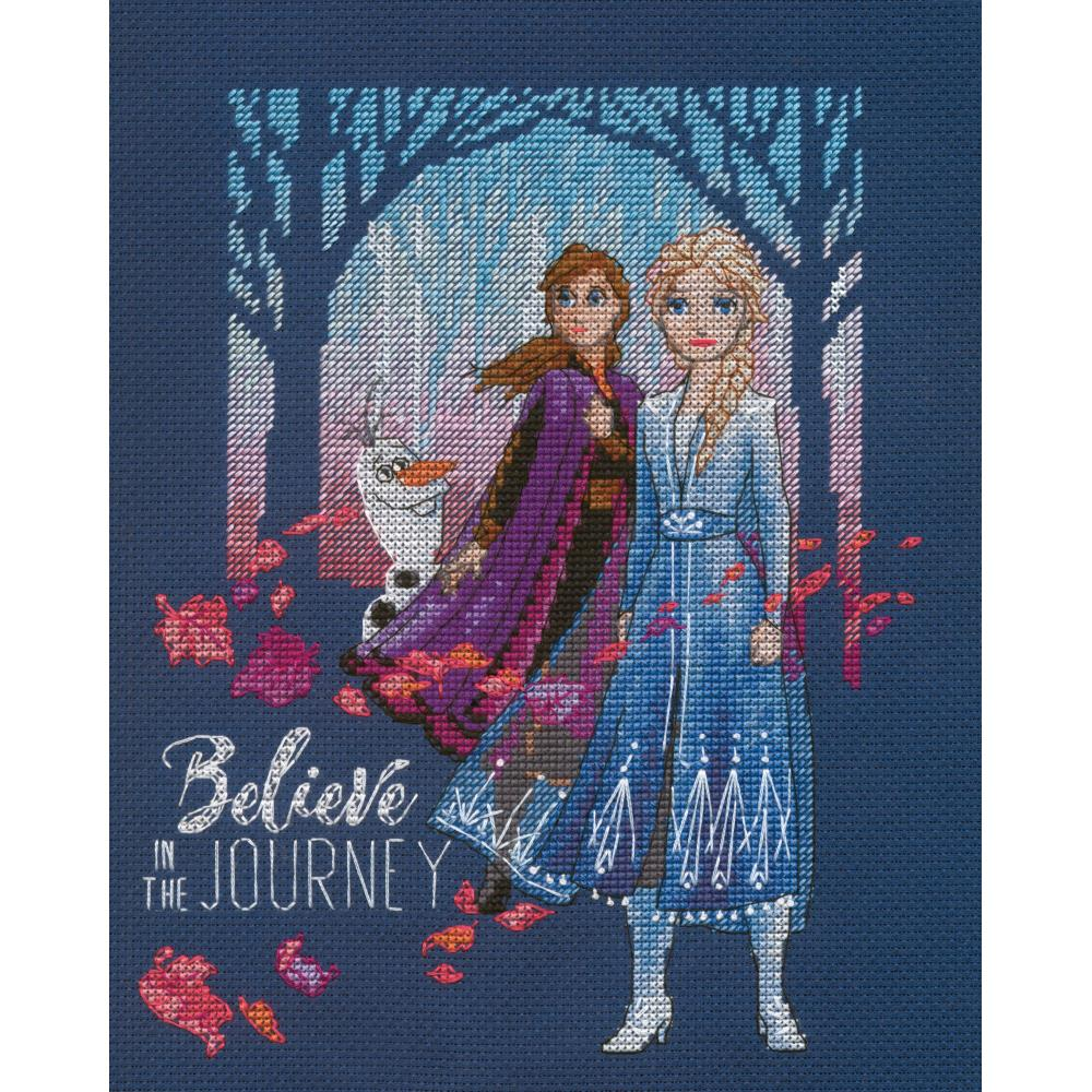 Believe In The Journey Counted Cross Stitch Kit