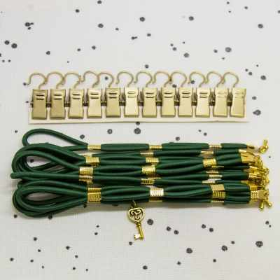 Emerald Side Tensioners with Charm - Gold Finish