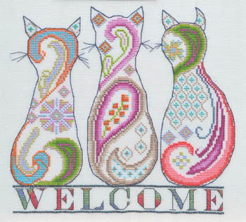 Paisley Cat Welcome
