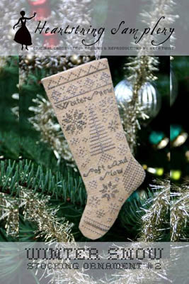 Winter Snow Stocking Ornament