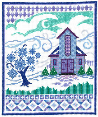 Barn With Winter Quilts