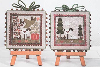 Counted Cross Stitch Kit Riolis-Cottage Garden Hiver