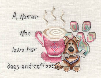 Woman Who Loves Her Dogs And Coffee
