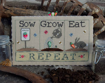 Sow, Grow, Eat (w/buttons)